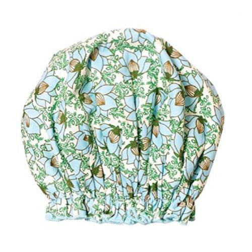 Spa Sister Bouffant Shower Cap, Lotus Garden