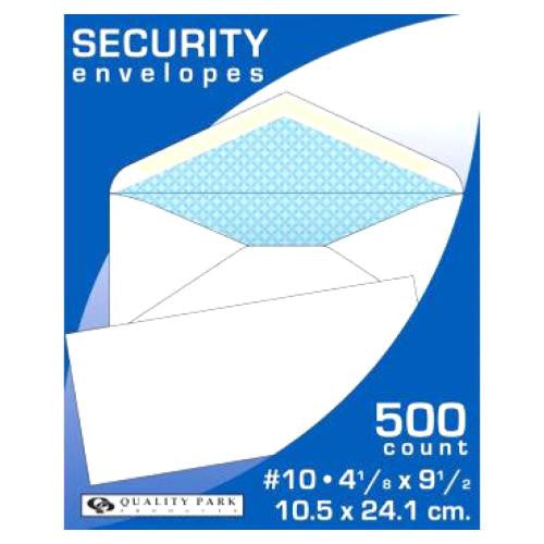 Quality Park #10 Security Tint Business Envelope, 500ct