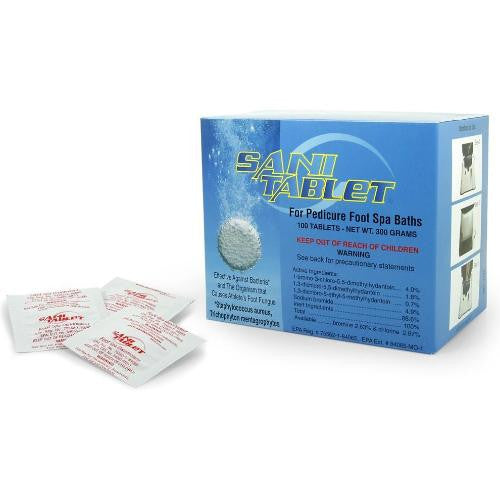Sani Tablet for Pedicure Foot Spa Baths 100/box - beautysupply123