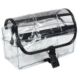 "Clear Vinyl Dopp Kit Cosmetic Bag 9"" wide X 12.5"" - beautysupply123"