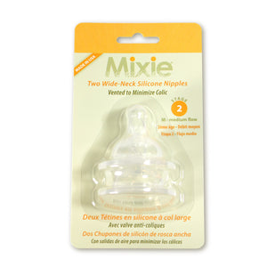 Mixie Baby Stage 2 Nipples, 2 pack - Mixie Baby