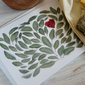 Gift Box Add On: Eucalyptus Heart Greeting Card