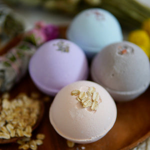 Bath Bombs, 100% Natural, Individually Wrapped, 4 oz