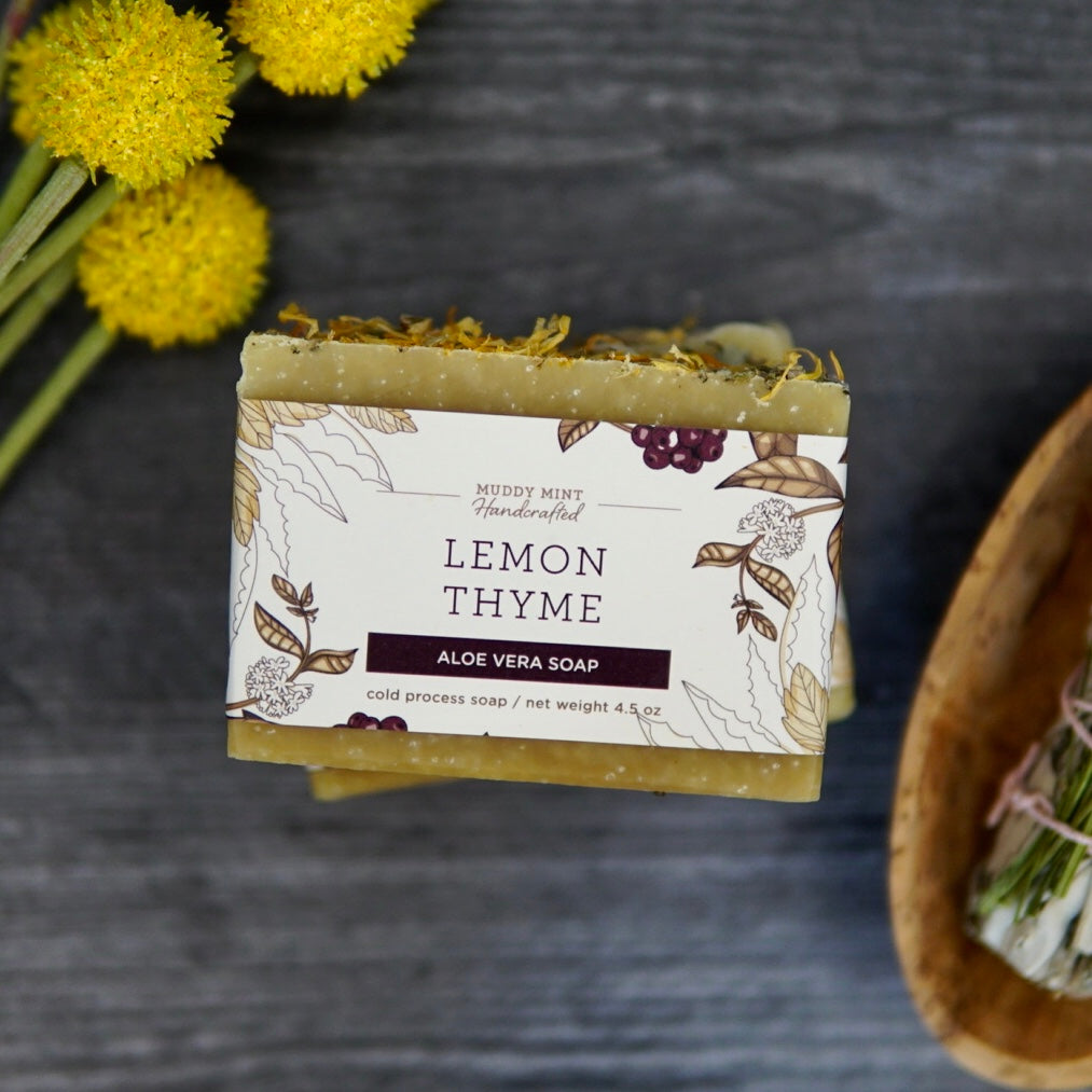 Lemon Thyme Soap, Spring Botanical Collection