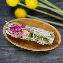 Load image into Gallery viewer, Wildflower Love Rose Sage Smudge Stick