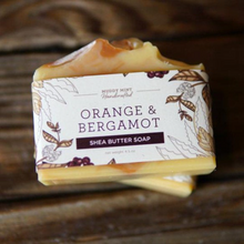 Load image into Gallery viewer, Orange & Bergamot, Shea Butter and Goat Milk Soap