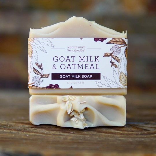 Goat Milk & Oatmeal Soap, Gentle & Unscented, Natural, Palm Free 1