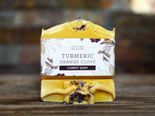 Load image into Gallery viewer, Turmeric Orange Clove Soap