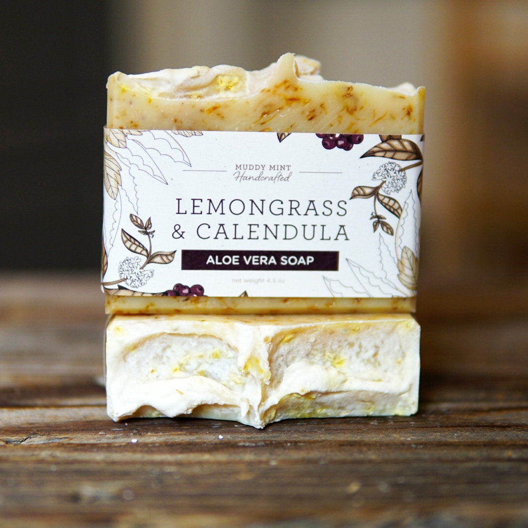 Lemongrass & Calendula Soap with Aloe Vera