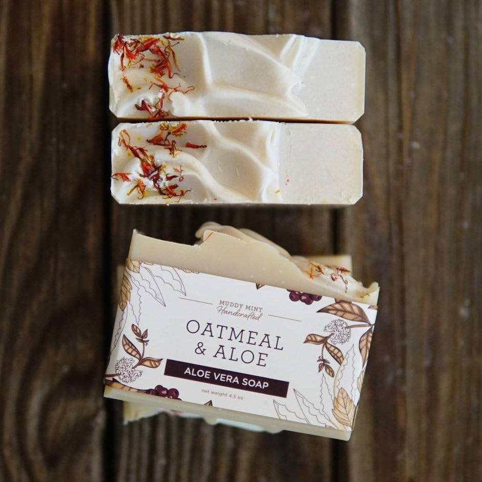 Oatmeal & Aloe Soap with Avocado Butter (unscented)