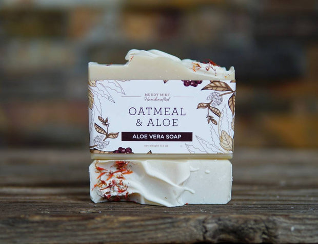 Oatmeal & Aloe Soap with Avocado Butter (unscented) 1