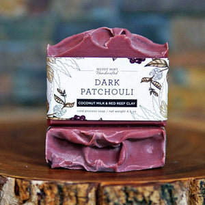 Dark Patchouli Soap with Coconut Milk and Australian Red Reef Clay Soap