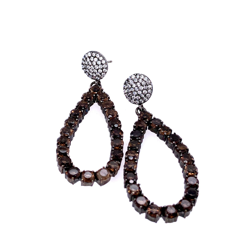 Champagne Open Teardrop Earrings