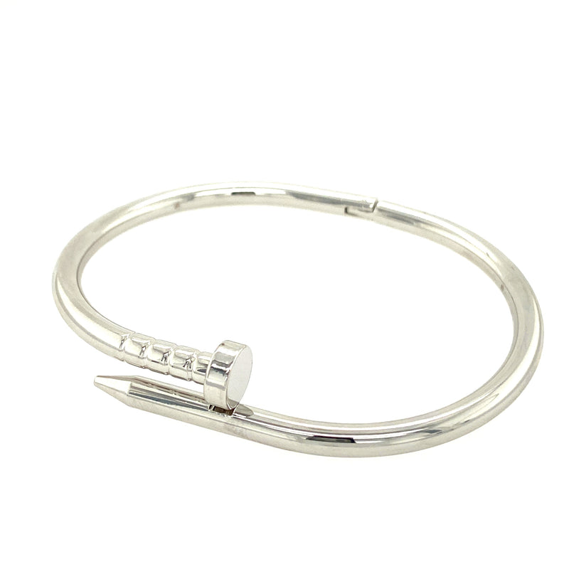 Stainless Steel Nail Bracelet in Silver