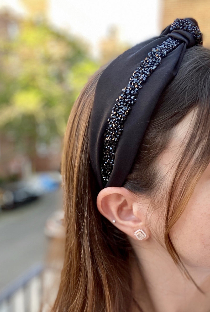 Black Knot & Bow Headband