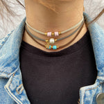 Light Gray Stretch Choker