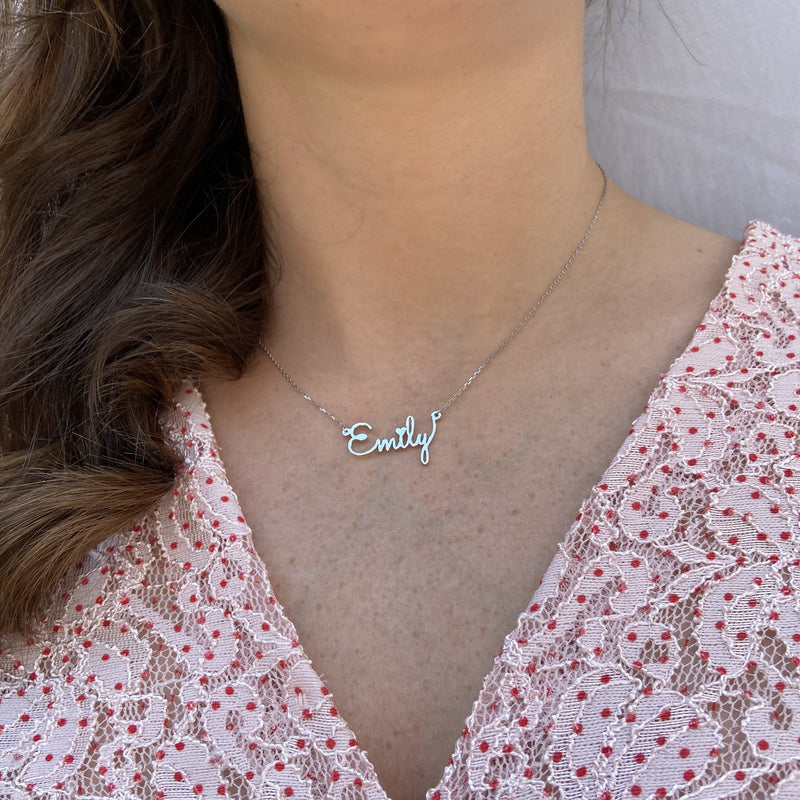 Personalized Name Cutout In Sterling Silver