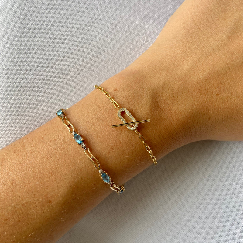 Toggle Mini Link Chain Bracelet