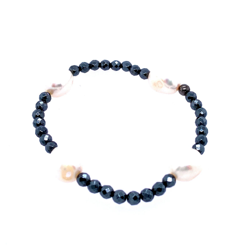 Freshwater Pearl Beaded Stretch Bracelet