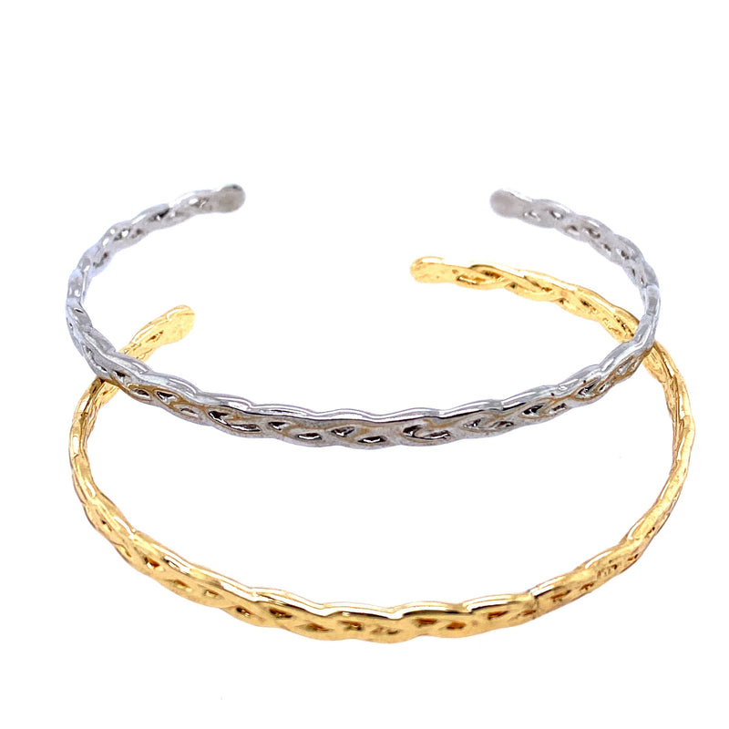 Two Tone Braided Cuff Set