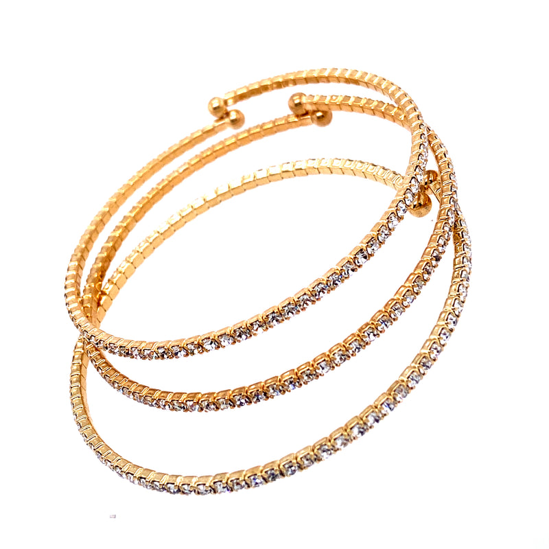 Three Bangle Set in Gold