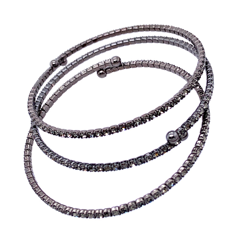 Three Bangle Set in Gunmetal
