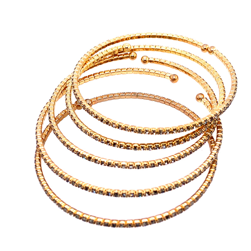 Five Bangle Set in Gold