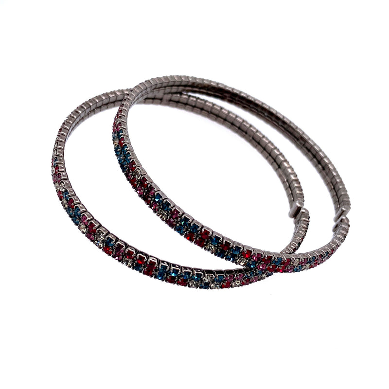Two Row Double Bangle Set in Gunmetal