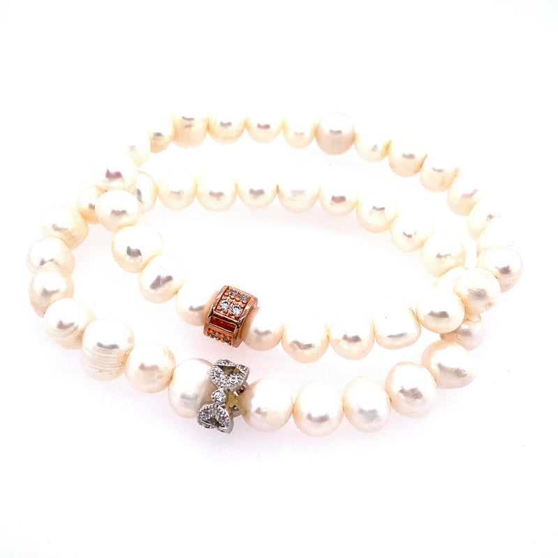 Freshwater Pearl Stretch Bracelet Set