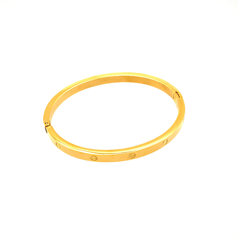 Children's Stainless Steel Bangle in Gold