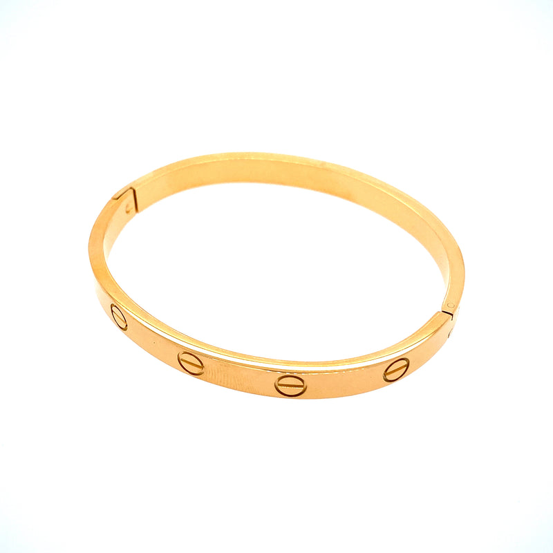 Basic Stackable Bangle Bracelet in Gold