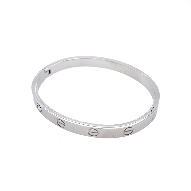 Basic Stackable Bangle Bracelet in Silver