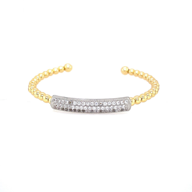 Big Bar Two Tone Cuff Bracelet