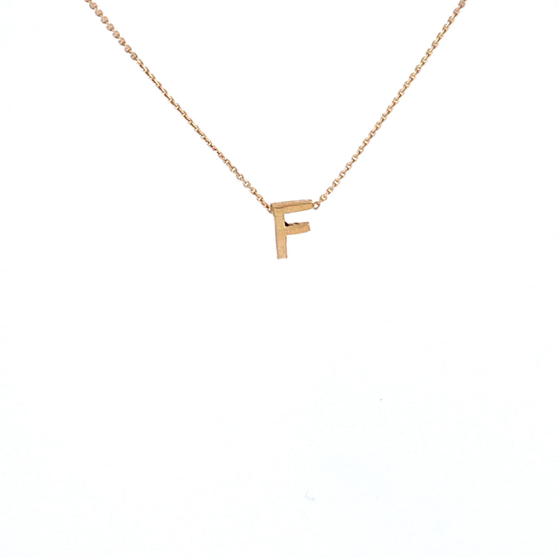 Custom Personalized Initial Cutout 14K Gold