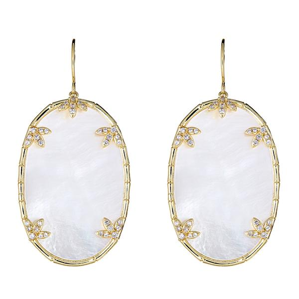 Mother of Pearl Earrings - White