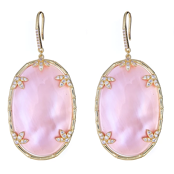 Mother of Pearl Earrings - Pink
