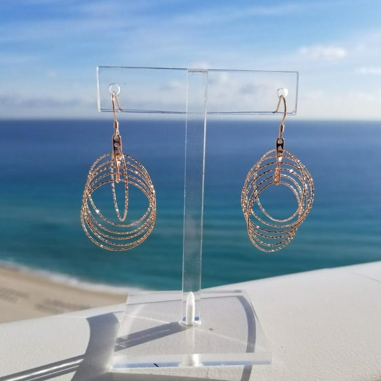 Gold Tone Swirl Earrings