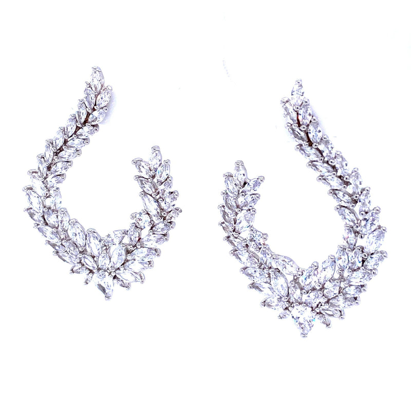Glamorous Cubic Zirconia Statement Earrings