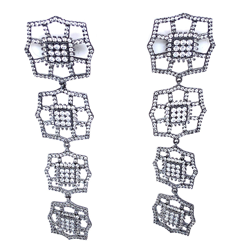 Four Tier Glamorous Earrings