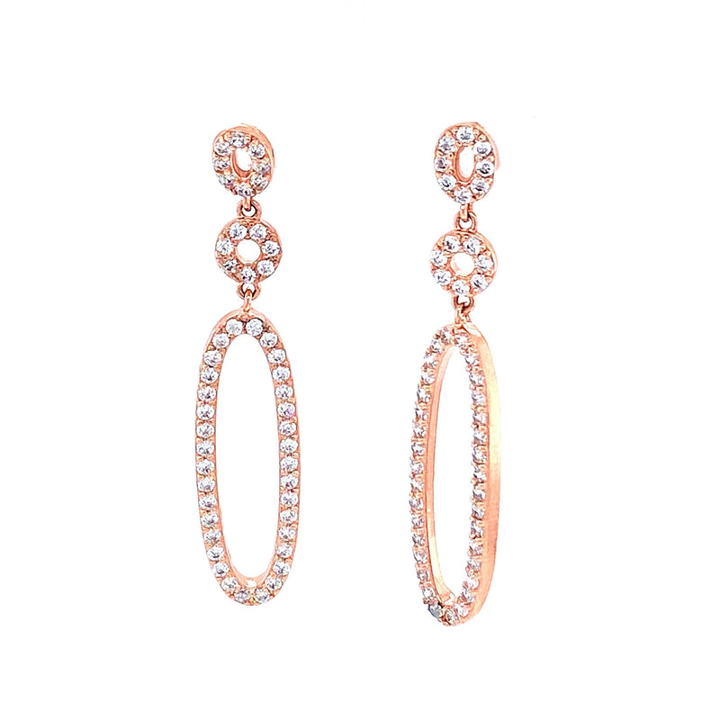 Dainty Oval Drop Earrings