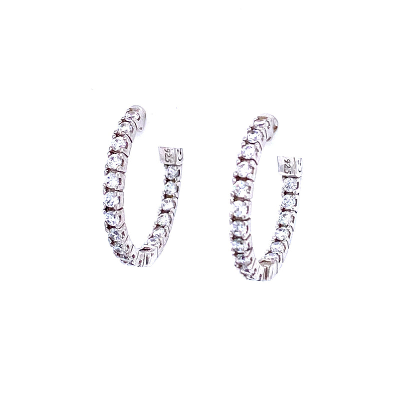 Sterling Silver Classic Hoops
