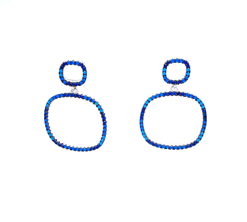 Blue Cubic Zirconia Earrings