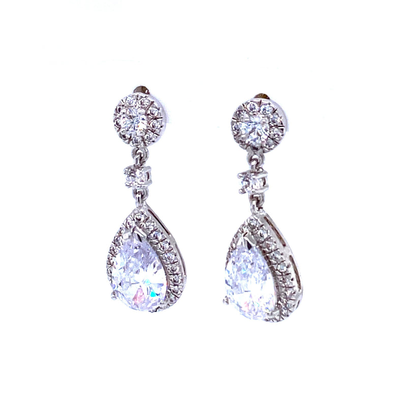 Crystal Dangling Teardrop Earrings