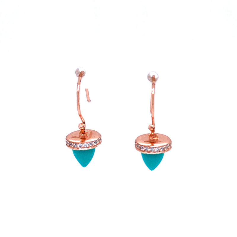Small Turquoise Charm Earrings