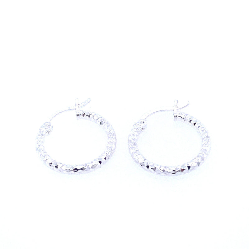 Small Textured Hoop Earrings