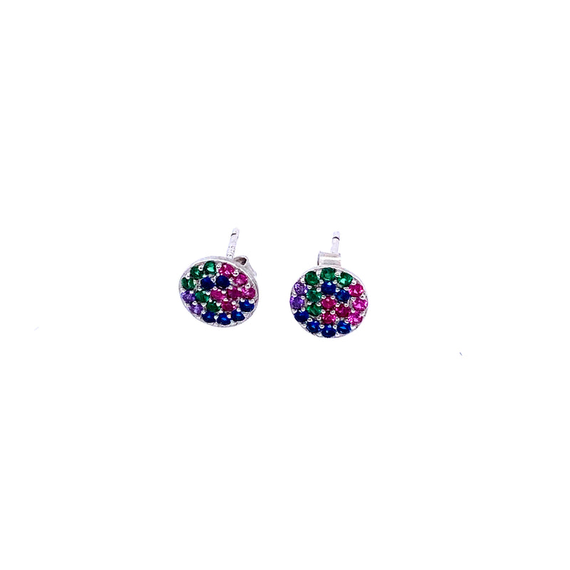 Multi Color Stud Earrings