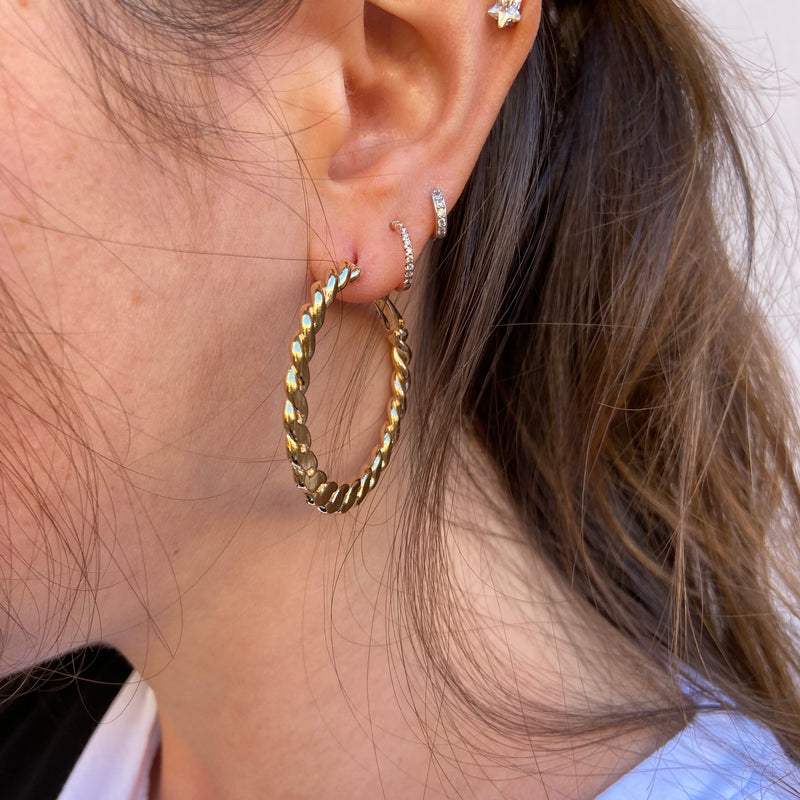 Twist Braided Style Hoops
