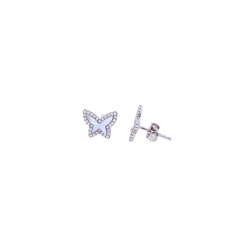 Mini Mother-of-Pearl Butterfly Studs