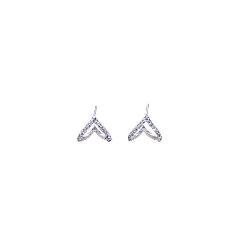 Reverse V Ear Hugger Earrings