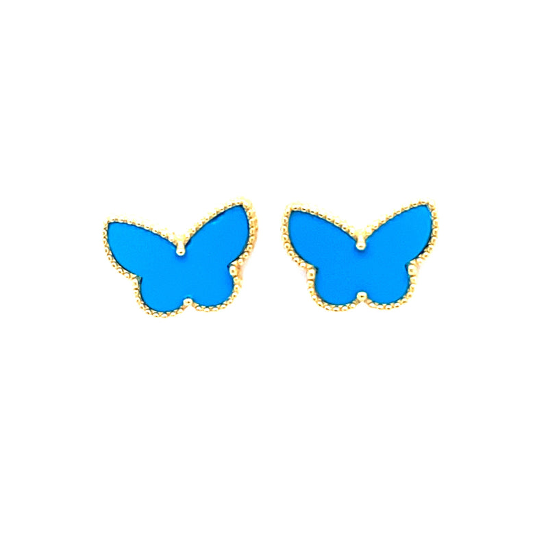 Turquoise Butterfly Stud Earrings